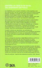 Identifier Les Oeufs Et Les Larves Des Amphibiens De France - 4ème de couverture - Format classique