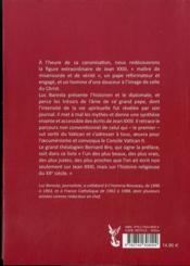 Jean Xxiii, Approche D'Une Destinee - 4ème de couverture - Format classique