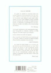 Fiancailles De La Fraicheur (Broche) - 4ème de couverture - Format classique