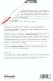 Interpretation Des Sequences Negatives. Portee Et Foyer Negations En Francais - 4ème de couverture - Format classique