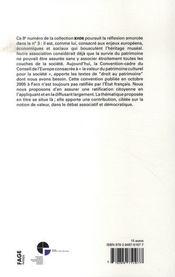 Valorisation partagée du patrimoine - 4ème de couverture - Format classique