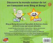 Découvre le monde avec Bing et Bong. L'anniversaire de Bong - 4ème de couverture - Format classique
