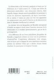 L'Elan Democratique Dans L'Athenes Ancienne - 4ème de couverture - Format classique