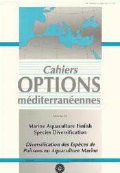 Marine aquaculture finfish species diversification ; diversification des especes de poissons en aquaculture - Couverture - Format classique