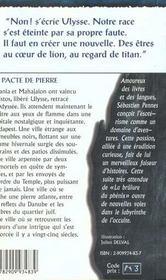 Nephilim Cycle Des Phenix 2 - Pacte De Pierre (Le) - 4ème de couverture - Format classique