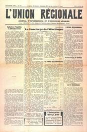Union Regionale (L') N°1114 du 04/01/1940 - Couverture - Format classique