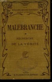 Recherche De La Verite. Tome 1. - Couverture - Format classique