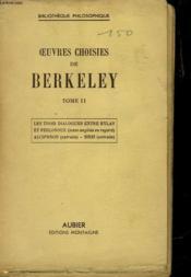 Oeuvres Choisies De Berkeley - Tome Ii - Couverture - Format classique