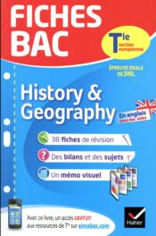 FICHES BAC ; history & geography ; terminale section européenne  - Cecile Gaillard
