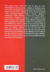 Choisir Le Juste Mot Travailler Le Vocabulaire De La Culture Generale - 4ème de couverture - Format classique