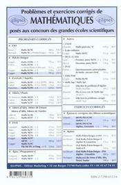 Problemes Corriges De Mathematiques Centrale/Supelec Tome 6 1993-1999 - 4ème de couverture - Format classique