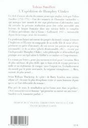 Expedition De Humphry Clinker - 4ème de couverture - Format classique