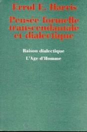 Pensee Formelle Transcendantale - Couverture - Format classique