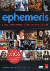 Ephemeris (edition 2008) - Couverture - Format classique