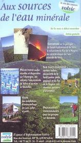 Volcans d'Auvergne - 4ème de couverture - Format classique