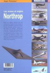 Les Avions Et Engins Northrop - 4ème de couverture - Format classique