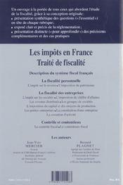 Les impots en france ; traite de fiscalite; edition 2002-2003 - 4ème de couverture - Format classique