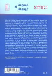 Marqueurs De Glose (Les) - 4ème de couverture - Format classique