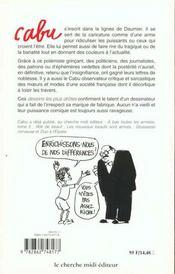 Les dessins les plus drôles de Cabu - 4ème de couverture - Format classique