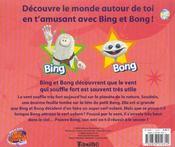 Les Decouvertes De Bing Et Bong ; Le Vent - 4ème de couverture - Format classique