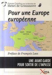 Pour une europe européenne - Intérieur - Format classique