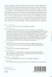Biopolitique et biopouvoir ; logiciel libre - 4ème de couverture - Format classique