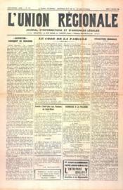 Union Regionale (L') N°1115 du 11/01/1940 - Couverture - Format classique