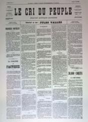 Cri Du Peuple (Le) N°59 du 29/04/1871 - Couverture - Format classique