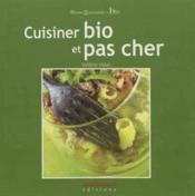 Cuisinez bio et pas cher - Couverture - Format classique