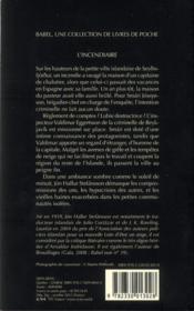 L'incendiaire - 4ème de couverture - Format classique