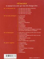 Les Lumieres Les Ecoles Artistiques - 4ème de couverture - Format classique