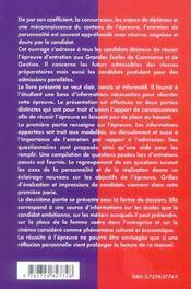Guide Pratique De L'Entretien Individuel Aux Grandes Ecoles De Commerce - 4ème de couverture - Format classique