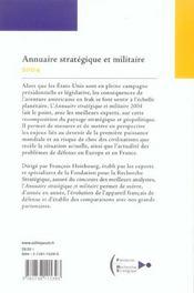 Annuaire Strategique Et Militaire 2004 - 4ème de couverture - Format classique