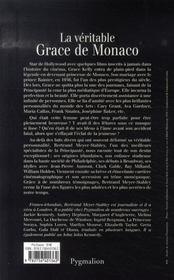 La Veritable ; La Véritable Grace De Monaco - 4ème de couverture - Format classique