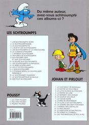 Les Schtroumpfs t.6 ; le cosmoschtroumpf - 4ème de couverture - Format classique