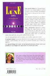 Agenda Pratique De La Lune 2002 - 4ème de couverture - Format classique