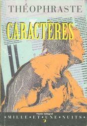 Caracteres - Intérieur - Format classique