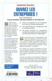 Evm Ouvrez Les Entreprises - 4ème de couverture - Format classique