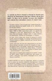Les disparus de Mourmelon. témoignage - 4ème de couverture - Format classique