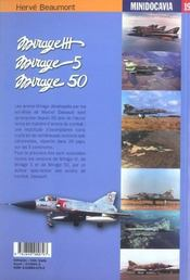 Mirages 3, 5, 50 - 4ème de couverture - Format classique