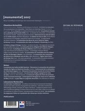 MONUMENTAL ; monumental 2007 - 4ème de couverture - Format classique