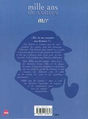 Mille ans de contes de mer - 4ème de couverture - Format classique