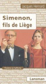 Simenon, fils de Liège - Couverture - Format classique
