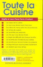 Toute La Cuisine - 4ème de couverture - Format classique