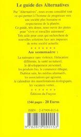 Guide des alternatives 2005 - 4ème de couverture - Format classique