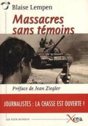 Massacres sans témoins - Couverture - Format classique