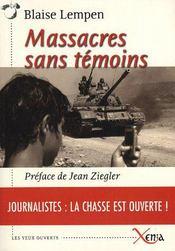 Massacres sans témoins - Intérieur - Format classique