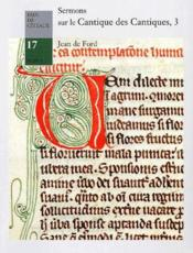 Sermons sur le cantique des cantiques, 3 ; 88-120 - Couverture - Format classique