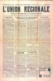 Union Regionale (L') N°1116 du 18/01/1940 - Couverture - Format classique