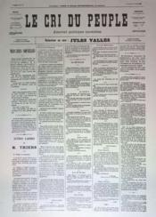 Cri Du Peuple (Le) N°60 du 30/04/1871 - Couverture - Format classique